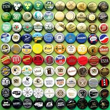 100 BEER CIDER SODA Bottle Caps NOT for Latin and South America !!!