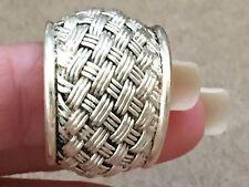 Vintage Wedding Band Weave Design Sterling Silver 925 size 7