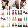 Fashion Bohemian Jewelry Crystal Tassel Stud Earring Long Drop Dangle Earrings