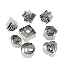 24pcs Stainless Steel Mini Cookie Cutter Set Baking Pastry Cutters Cookie Slicer