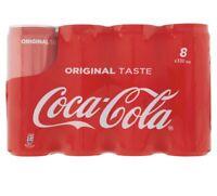 Coca Cola Lattina da 330ml confezione da 8 pezzi