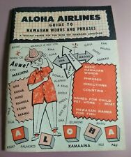 Vintage 1957 Aloha Airlines Booklet A Guide to Hawaiian Words and Phrases