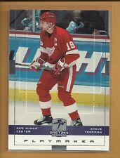Steve Yzerman 1999 2000 Upper Deck Playmaker Sample Promo Card # 19 Red Wings