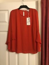 Warehouse Red Blouse Size 10 BNWT RRP £29.00