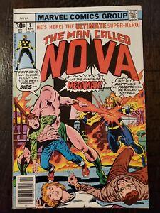 THE MAN CALLED NOVA #8 VF-/VF+ 1977