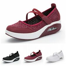 35-42 Womens Ladies Slip On Walking Sneakers Fitness Trainers Shoes Athletics D