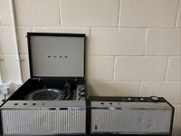 Vintage Bush SRP51 Record Player & Garrard 3500 Turntable With Amplifier Rare.