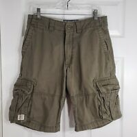 LEVIS Strauss Co Size 30 Mens CARGO Authentics Signature Army Olive Green Shorts