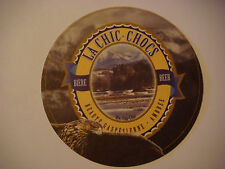 Beer Bar Coaster >^< La Chic-Chocs Biere ~ Beaute Gaspesienne Ambree ~*~ CANADA