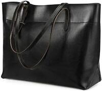 Kattee Vintage Genuine Leather Tote Shoulder Bag for Women Satchel Handbag with