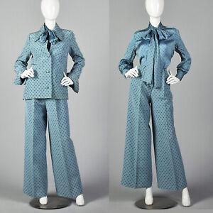 Medium 1970s Christian Dior Silk 3 Piece Pant Set VTG Haute Couture Marc Bohan