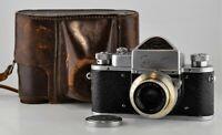 1954 RARE RUSSIAN USSR ZENIT-1 SLR camera + INDUSTAR-22 f3.5/50mm lens