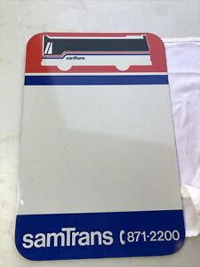 """SamTrans Bus Sign Bay Area California 18"""" X 12"""" - Metal Original Double Sided"""