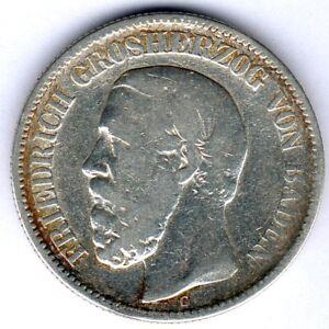 Baden, 2 Mark 1876G, J.26, s/ss