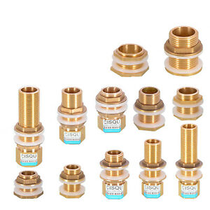 """1/2""""3/4""""1"""" Brass Water Tank Outlet Fitting Flange Extend Fittings  Silicone Seal"""