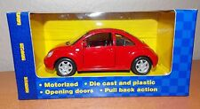 1:32 Scale Diecast Maisto Power Racer VW Volkswagen New Beetle Red 1998 -2005
