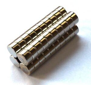 60pcs Very Strong Neodymium Disc Round Magnets 4mm × 2mm DIY