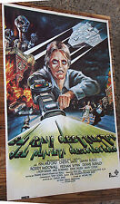 Used Cartel de Cine EL RAYO DESTRUCTOR DEL PLANETA DESCONOCIDO Movie Film Poster