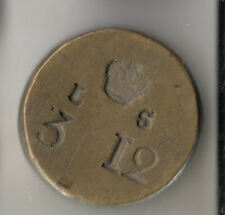 GB BRASS WEIGHTS £3 12 SHILLINGS TOKEN C1750          103B      BY COINMOUNTAIN