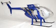 MD 500 E Jive-Blue GFK Rumpf für 500 Heli, zB. T-Rex Blade, fuselage heliartist