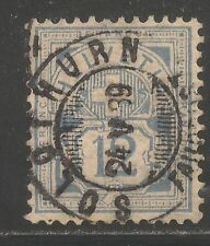 Switzerland #74a (A19) FVF USED - 1882 12c Numeral Of Value - Town of Solothurn
