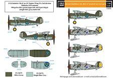 SBS Model 1/48 Gloster Gladiator in Swedish service VOL.II decal sheet D48006