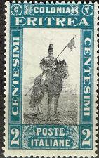 Italian Eritrea African Tribal Warrior Horseman stamp 1934 MLH