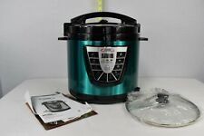 TRISTAR POWER PRESSURE COOKER POT XL 8 QUART TEAL COLORED