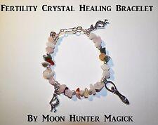 Fertility Stone Spell Bracelet Reiki Crystal Healing Pagan Reiki