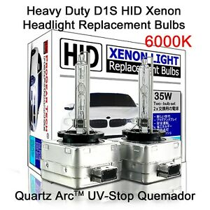 6000K Heavy Duty D1S HID Xenon Replacement Bulbs Globe (Pack of 2) for BMW Mini