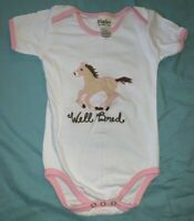 "Girls *HATLEY One-Piece / Bodysuit w/ Pink Trim Sz 18-24 Months EUC ""Well Bred""*"