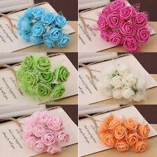 144Pcs Mini Artificial Flower Small Foam Rose Heads Wedding Party Decor Bouquet