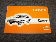 1984 Toyota Camry Sedan Owner Owner's Operator User Guide Manual DX LE 1.8L 2.0L