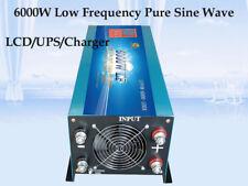 24000W Peak 6000W LF Pure Sine Wave 24VDC/110VAC Power Inverter LCD/UPS/Charger