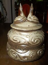 "James Robinson: Exquisite Pottery 10""x 8"" x 7"" LOONS URN with document 140402015"