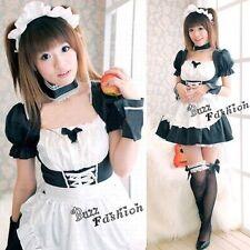 Lolita Maid Neon Genesis Evangelion EVA Rei Ayanami Cosplay Verkleidung Kostüme