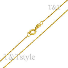 T&T 0.8mm 18K Gold Filled Chain Necklace (CF123J)