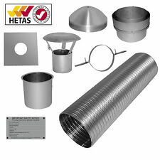 "7m 6"" Flexible Multifuel Flue Liner Pack/kit For Stove"