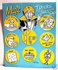 Magic Tricks Gumball Vending Machine Card Old Stock