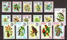Fiji Sc 305-20 MLH. 1971-72 Flowers & Birds cplt., VF