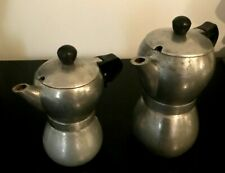 VINTAGE RETRO 1960's ATOMIC ERA STYLE 2 STAINLESS STEEL STOVE TOP COFFEE MAKERS