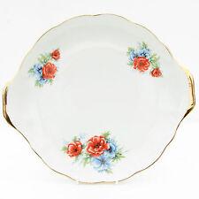 Vintage Iris Cluj Romania Porcelain Floral Cake Plate