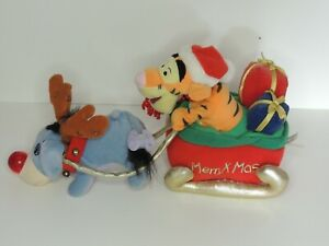 Disney Tigger Eyeore Mery Xmas Christmas Used Please Read Description  Plush