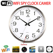 Mini 1080P WIFI HD SPY Hidden IP Camera DVR Wall Clock Real-Time Nanny Cam
