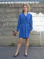 Damen Overall 100% Cupro blau 90er True Vintage 90s blue silky women jumpsuit