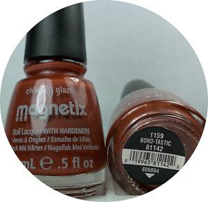 China Glaze MAGNETIX Nail Polish # 1159 BOND-TASTIC 81142 Rust Metallic Lacquer
