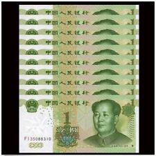 China 4th Series RMB1 1 Yuan $1 1999 10pcs Running Number In Folder & Cert (UNC)