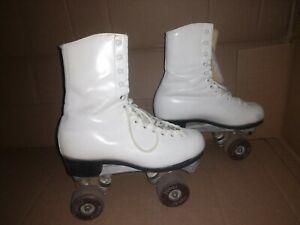 Vintage  Douglas Snyder junior Roller Skates White Size 3 1/2 kids