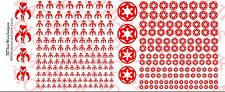 1/18 Scale Tattoos: Star Wars RED Mandalorian Galactic Empire Waterslide Decals