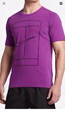 New Nike Men's Court Tennis Vivid Purple Crew 830935-584 sz L